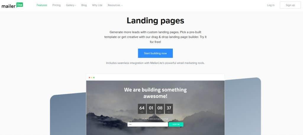 MailerLite Landing Page Builder